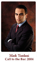 Mehran 'Mark' Yazdani, Lawyer